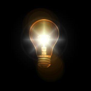 light bulb, think, idea
