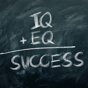 success, chalkboard, concept